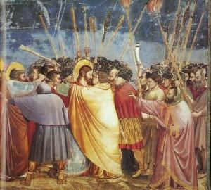 Giotto di Bondone (1267-1337): Το φιλί του Ιούδα