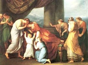 The Death of Alcestis by Angelica Kauffman (1741 -, 1807)