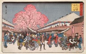 Οι κερασιές στη Nakanocho του Hiroshige