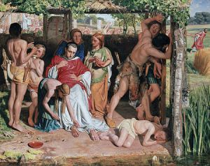 William Holman Hunt: «A Converted British Family Sheltering a Christian Missionary from the Persecution of the Druids»
