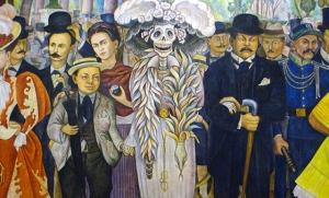 Diego Rivera, Frida Kahlo, La Catrina, José Guadalupe Posada.