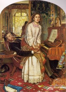 The awakening conscience, by William Holman Hunt (1853)