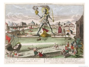 Georg Balthasar Probst:The Colossus of Rhodes, second Wonder of the World
