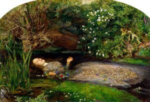 John Eeverett Millais, Ophelia. Model, Elizabeth Siddal