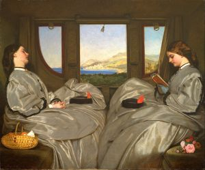 """Augustus Leopold Egg: """"The Travelling Companions"""" (1862). Birmingham Museum and Art Gallery."""