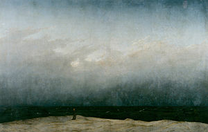"Caspar David Friedrich: ""Der Mönch am Meer"" (1808/1810, Alte Nationalgalerie, Βερολίνο)."
