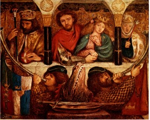 Dante Gabriel Rossetti. The Wedding of St. George. 1864.