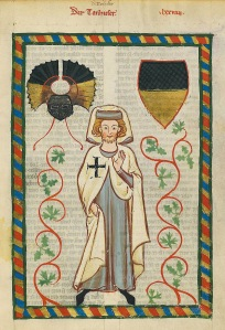 """Der Tanhuser"" (Codex Manesse, 1340)."