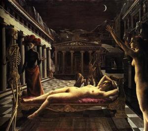 Paul Delvaux: «La Vénus endormie» (1944). Λάδι σε καμβά. Tate Gallery, Λονδίνο.