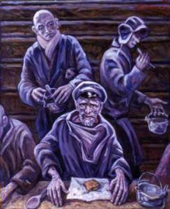 """Νikolai Getman: """"Οι Φυλακισμένοι του Γκουλάγκ"""". Λάδι σε καμβά."""