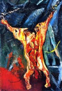 """Chaïm Soutine: """"Carcasse de boeuf"""". Λάδι (1925)."""