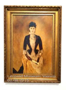 "Anton Romako: ""Το Πορτραίτο της Isabella Reisser"".  Λάδι σε καμβά, 1885. Μουσείο Leopold, Βιέννη."