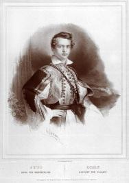 Επίσημο πορτραίτο του Όθωνα με φουστανέλα την περίοδο της Αντιβασιλείας