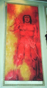 Το πορτραίτο του Nachi Cocom στο δημαρχείο της Merida.