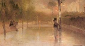 Η Λεωφόρος Βασιλίσσης Σοφίας μετά την βροχήν