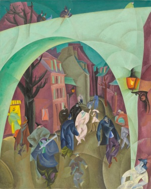 Lyonel Feininger Η Πράσινη Γέφυρα ΙΙ, 1916. Λάδι σε καμβά. 125.4 x 100.3 εκ.