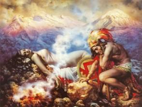 la-leyenda-de-los-volcanes-jesus-helguera